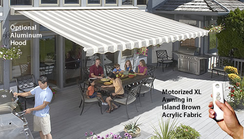 The Sunsetter Motorized Amp Motorized Xl Awnings Awnings